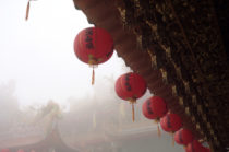 Red lanterns, Temple roof, Taiwan, 122981518