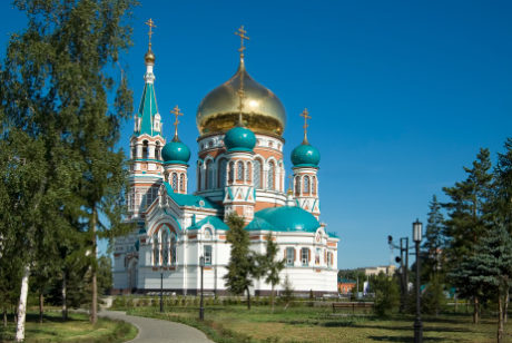 Dormition Cathedral, Omsk, Siberia, Russia 147673705