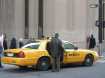 NYC Taxi at Exchange and Broadway