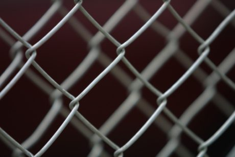 Closeup of chain link fence 87710200